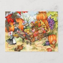 Thanksgiving Mice - Cute Postcards