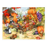 Thanksgiving Mice - Cute Postcards