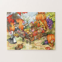 Thanksgiving Mice - Cute Puzzle