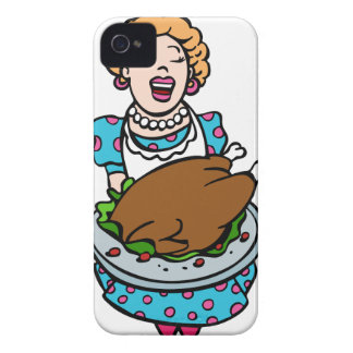 Thanksgiving Mom Serving Turkey Platter iPhone 4 Cover