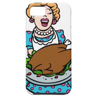 Thanksgiving Mom Serving Turkey Platter iPhone SE/5/5s Case
