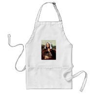 Thanksgiving Mona Lisa Pilgrim Adult Apron