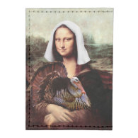 Thanksgiving Mona Lisa Pilgrim Tyvek® Card Case Wallet