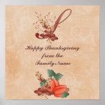Thanksgiving Monogram Letter S Poster