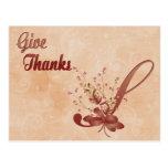 Thanksgiving Monogram S alphabet Postcard
