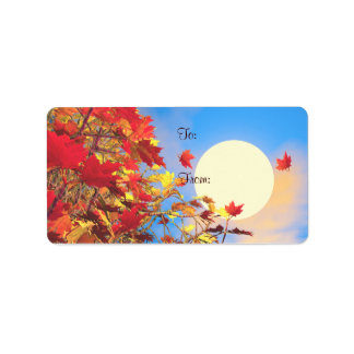 Thanksgiving Morning Gift Tag Personalized Address Label