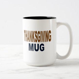 Thanksgiving Mug, Thanksgiving gifts Two-Tone Coffee Mug