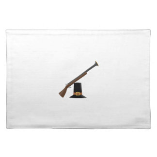 Thanksgiving Musket and Pilgrim Hat (Capotain) Place Mats