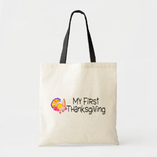 Thanksgiving My First Thanksgiving Budget Tote Bag