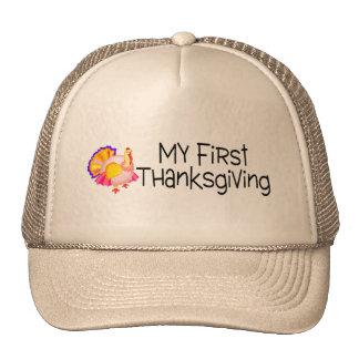 Thanksgiving My First Thanksgiving Trucker Hat