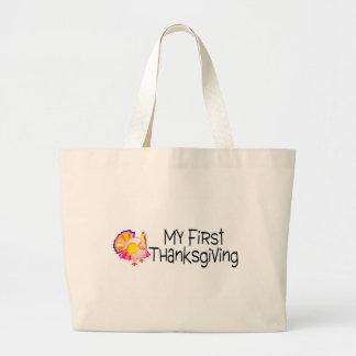 Thanksgiving My First Thanksgiving Jumbo Tote Bag