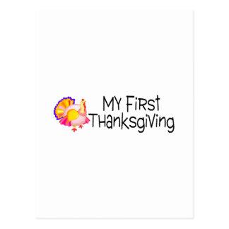 Thanksgiving My First Thanksgiving Postcard