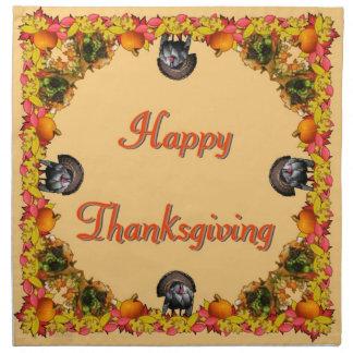 Thanksgiving Printed Napkins