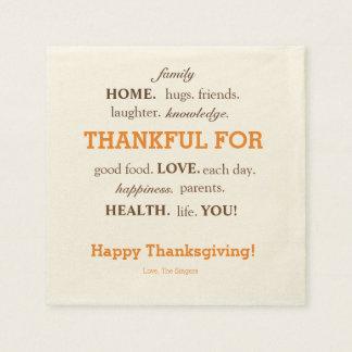 Thanksgiving napkins! paper napkin
