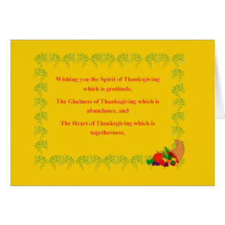 Thanksgiving Note Cards