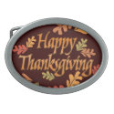 Thanksgiving Oval Belt Buckle