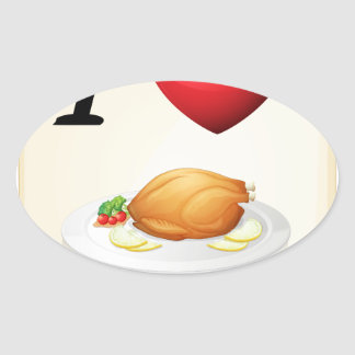 thanksgiving oval sticker