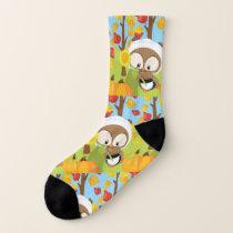 Thanksgiving Owl - 1 Socks