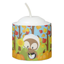 Thanksgiving Owl - 1 Votive Candle