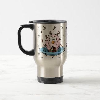 Thanksgiving owl travel mug