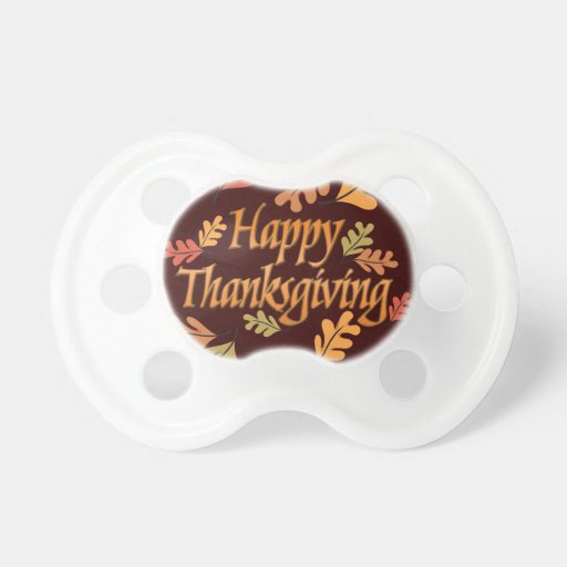 Thanksgiving Baby Pacifiers