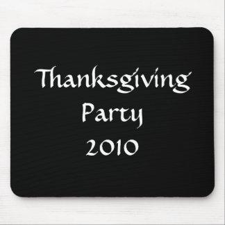 Thanksgiving Party 2010 Stylish Black White Custom Mousepads