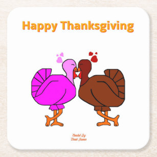 1422 Thanksgiving Turkey Coasters Cocktail Coasters Party Coasters Thanksgiving Dinner Party Give Thanks Thanksgiving Coasters