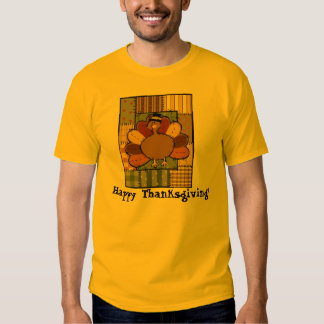 Thanksgiving Patchwork Turkey Shirts
