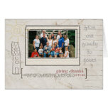 Thanksgiving Personalized Card