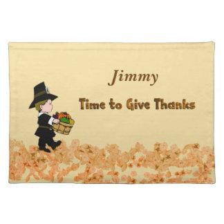 Thanksgiving Personalized Pilgrim Placemat