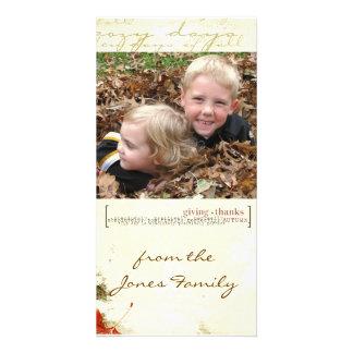 thanksgiving Photcard Custom Photo Card