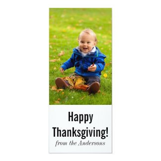 Thanksgiving Photo Greeting Card