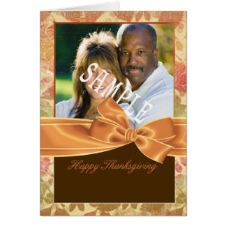 Thanksgiving photo greeting card with fall colors