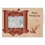 Thanksgiving Photo Monogram S Template Greeting Card