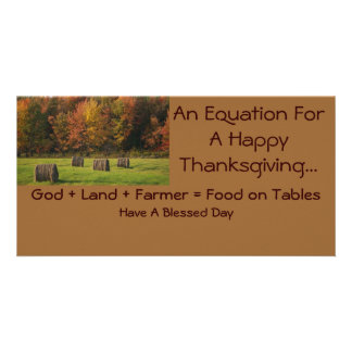 Thanksgiving Photocard Card