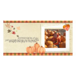 Thanksgiving Photocard Customized Photo Card