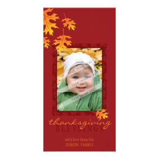 THANKSGIVING PHOTOCARD :: mache leaves 1 Card