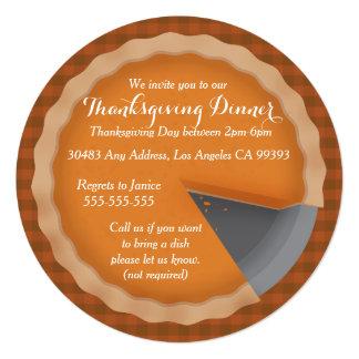 Thanksgiving Pie Dinner Party Inviations Invitation