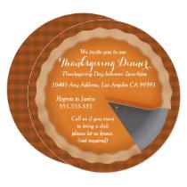 Thanksgiving Pie Dinner Party Invitation