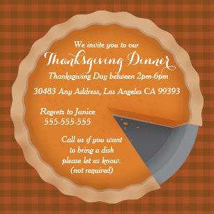 dinner thanksgiving invitations invite your guests today zazzle