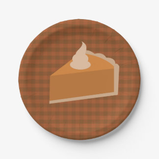 Thanksgiving Pie Paper Plates 7 Inch Paper Plate