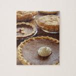 "Thanksgiving pies, (Close-up) Jigsaw Puzzle<br><div class=""desc"">AssetID: 200249011-001 / {Ryan McVay} / Thanksgiving pies,  (Close-up)</div>"