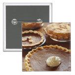Thanksgiving pies, (Close-up) Pinback Button