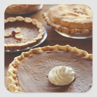 Thanksgiving pies, (Close-up) Square Sticker