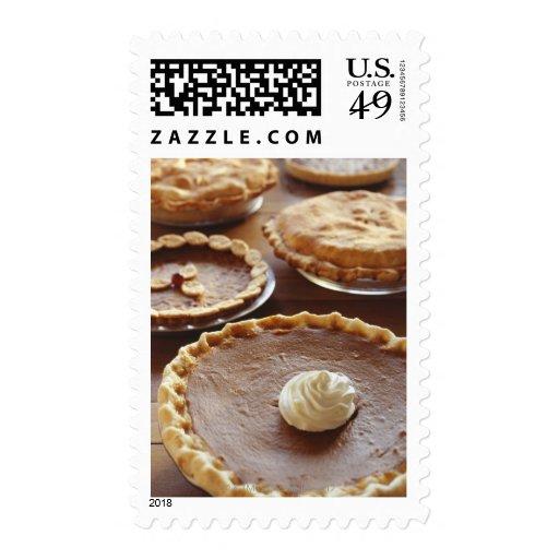 Thanksgiving pies, (Close-up) Stamp