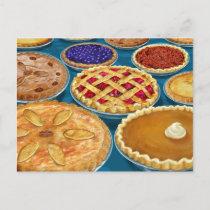 Thanksgiving Pies Postcard