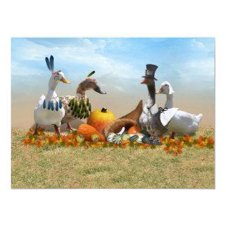 Thanksgiving Pilgrim and Indian Ducks Card