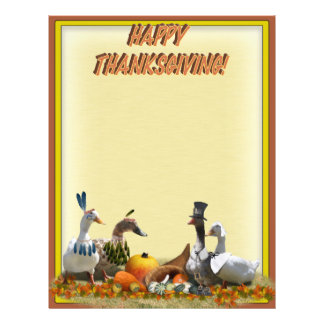 Thanksgiving Pilgrim and Indian Ducks Flyer