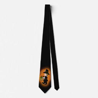 Thanksgiving Pilgrim Boy Dark Neck Tie