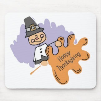Thanksgiving Pilgrim Boy Mouse Pad